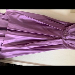 David's Bridal strapless dress 👗